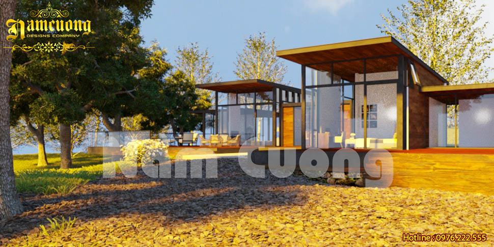 Không gian thơ mộng trong thiết kế nhà vườn hiện đại tại Hưng Yên