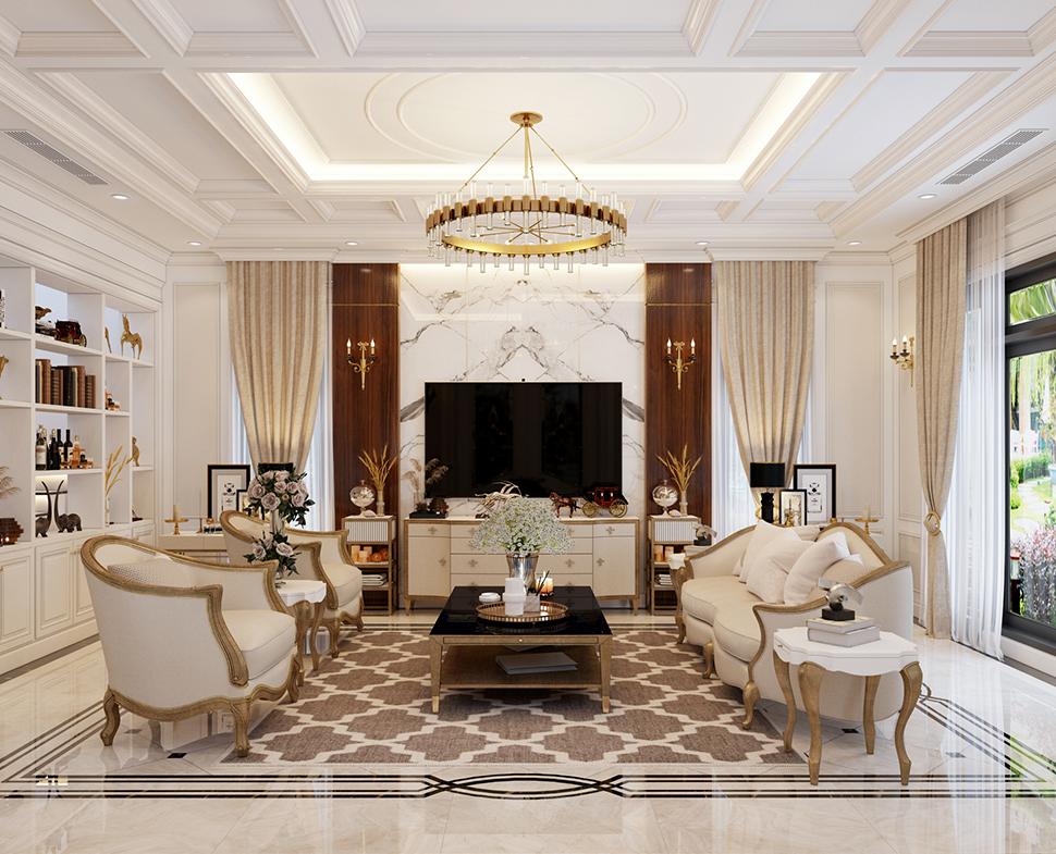 Mẫu thiết kế nội thất biệt thự 3 phòng ngủ tiện nghi, sáng tạo