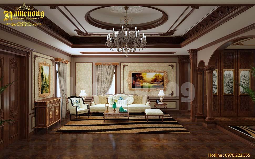 Mẫu thiết kế nội thất biệt thự Á Đông sang trọng
