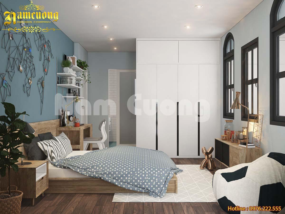 Mẫu thiết kế nội thất biệt thự hiện đại 100m2 tại Quảng Ninh