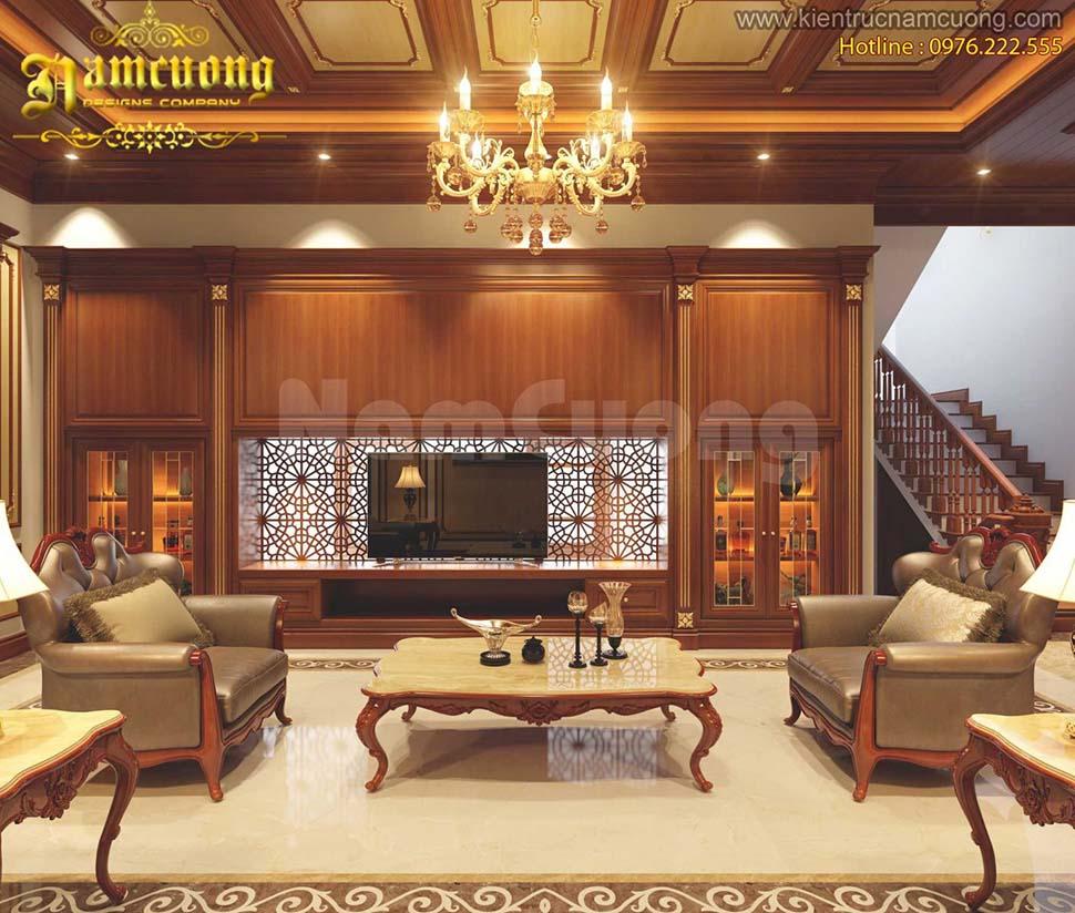 Mẫu thiết kế nội thất biệt thự pháp 10m đẹp
