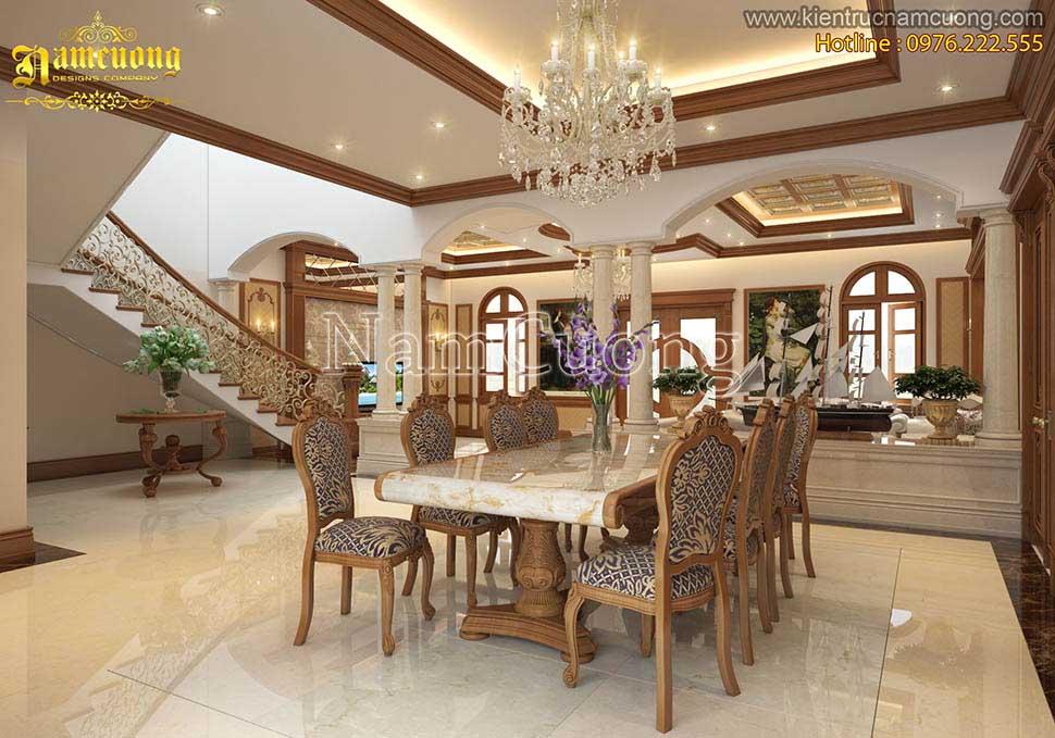 Thiết kế nội thất biệt thự Pháp 200m2