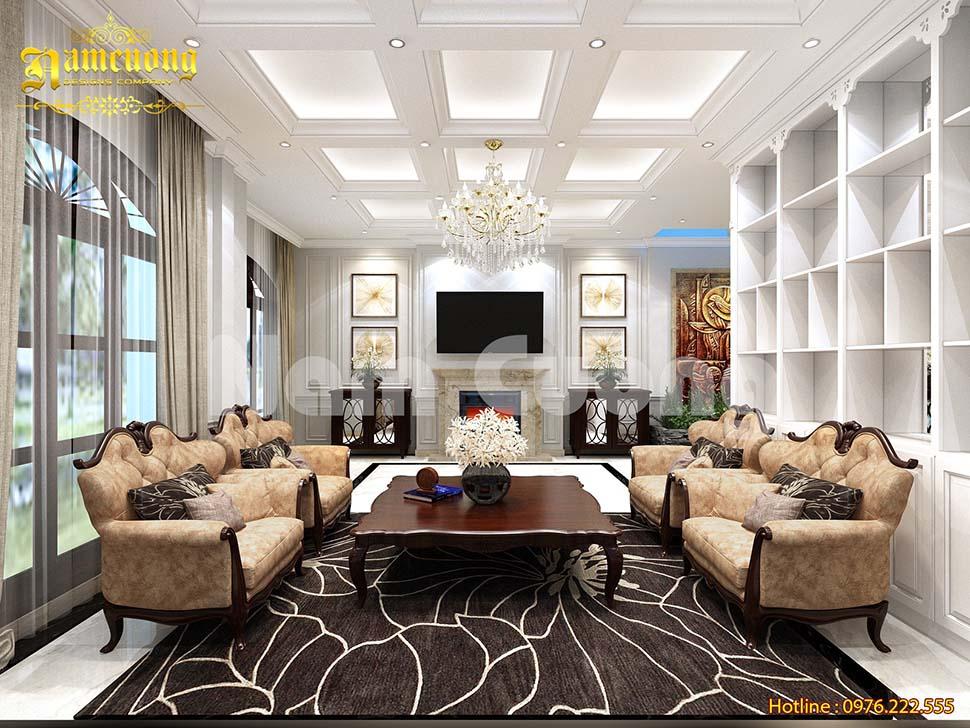 Mẫu thiết kế nội thất biệt thự vinhomes 3 tầng đẹp