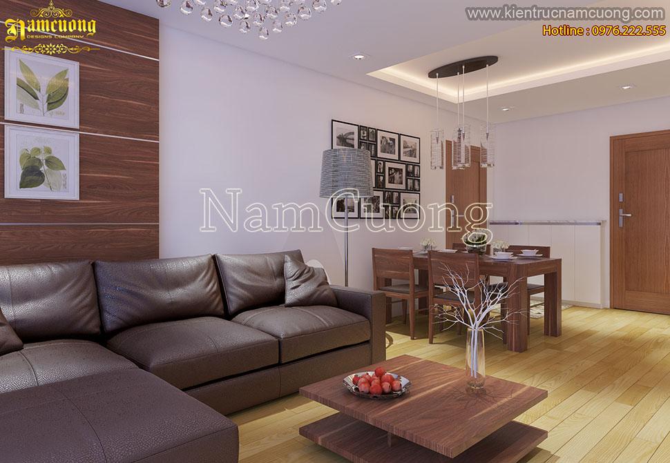 Mẫu thiết kế nội thất chung cư 60m2 đẹp nhất
