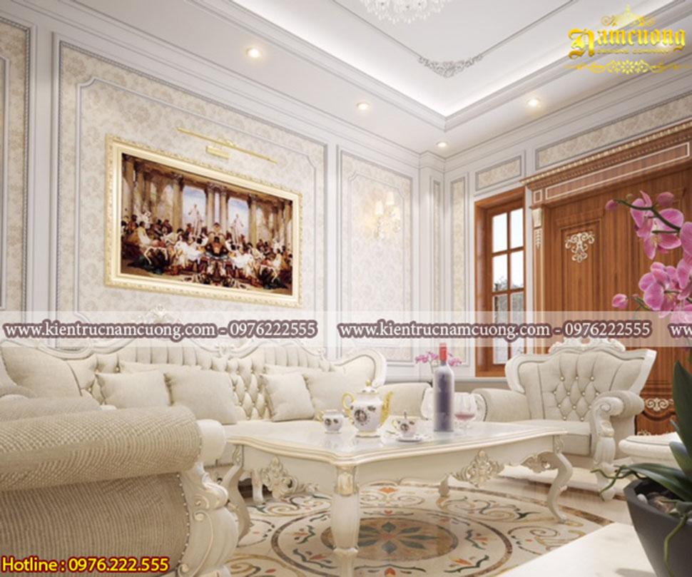 Thiết kế nội thất chung cư 70m2 tân cổ điển đẹp