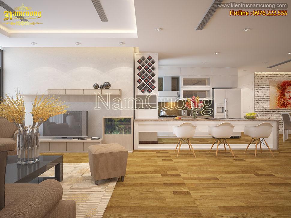 Thiết kế nội thất chung cư hiện đại đẹp ở Hà Nội