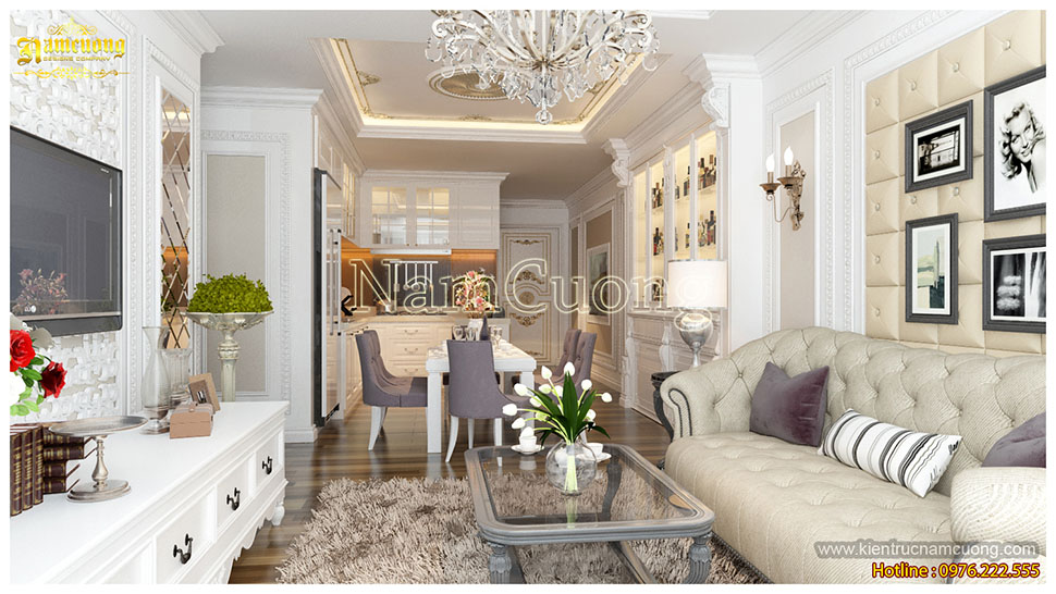 Thiết kế nội thất chung cư tân cổ điển tại sài gòn