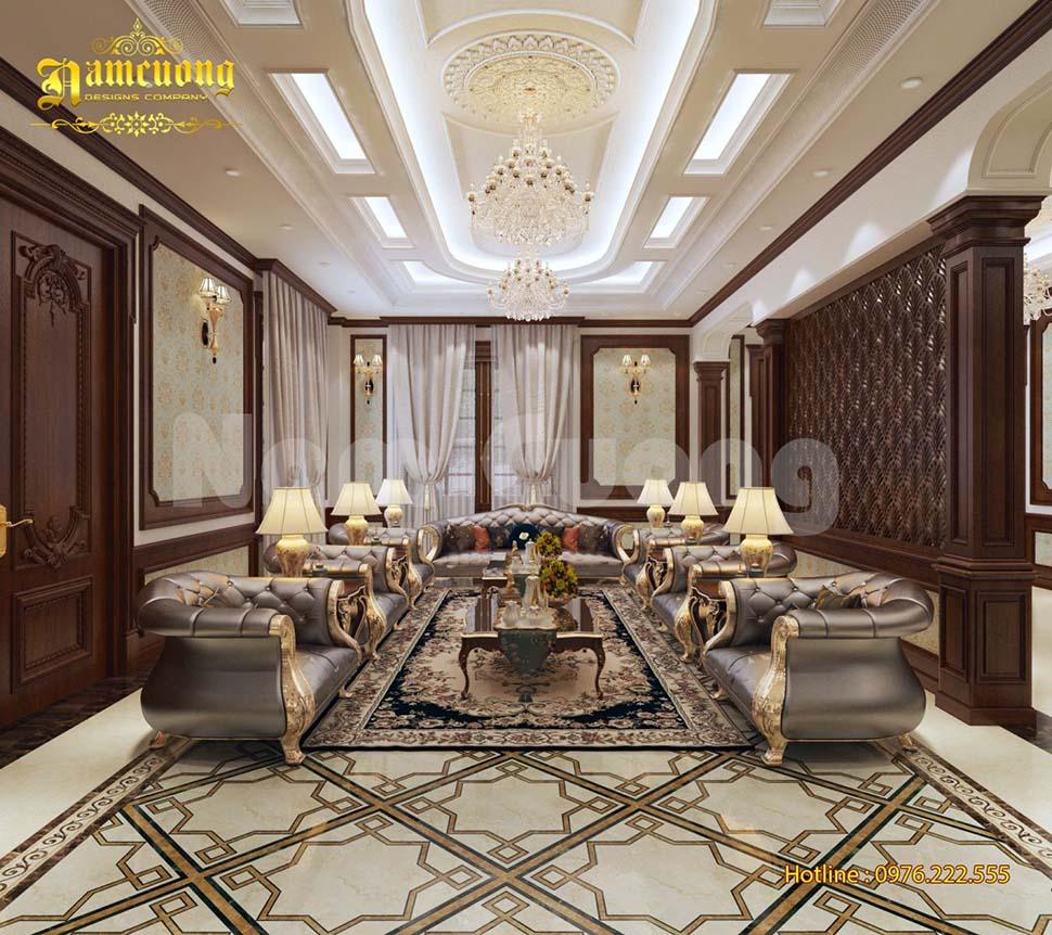 Thiết kế nội thất kiểu Pháp biệt thự