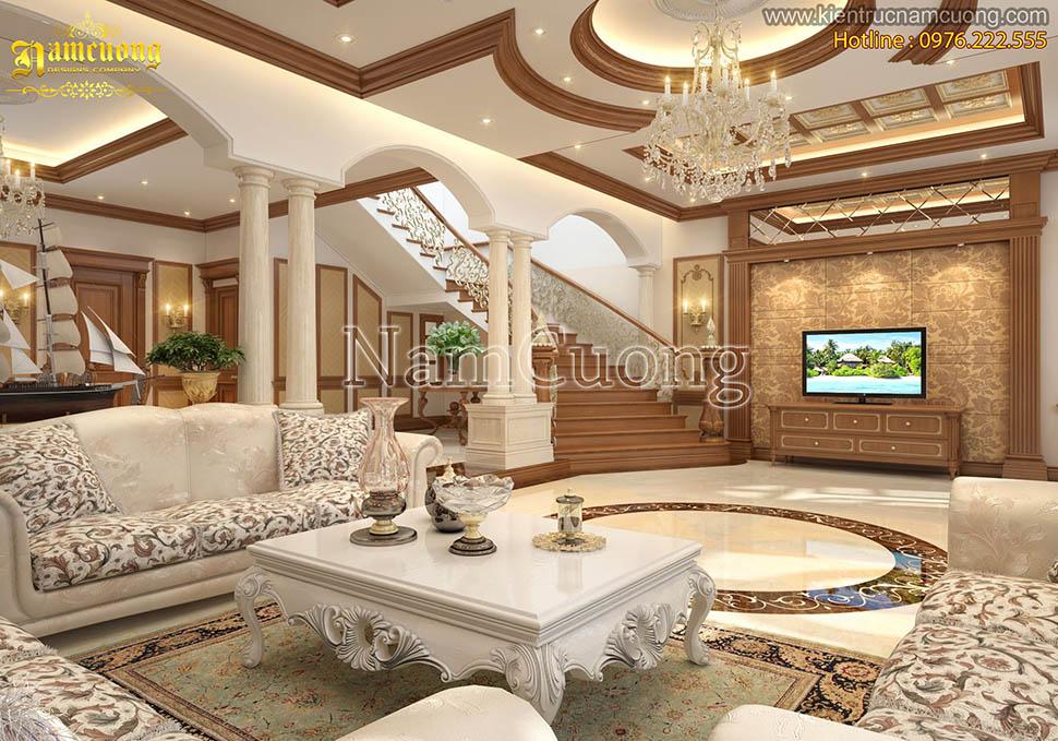 Mẫu thiết kế nội thất nhà kiểu pháp hoành tráng