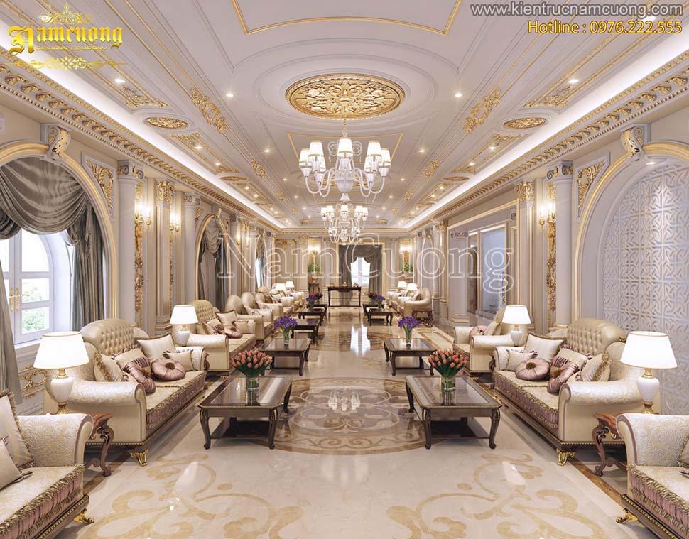 Thiết kế nội thất pháp biệt thự 3 tầng ấn tượng