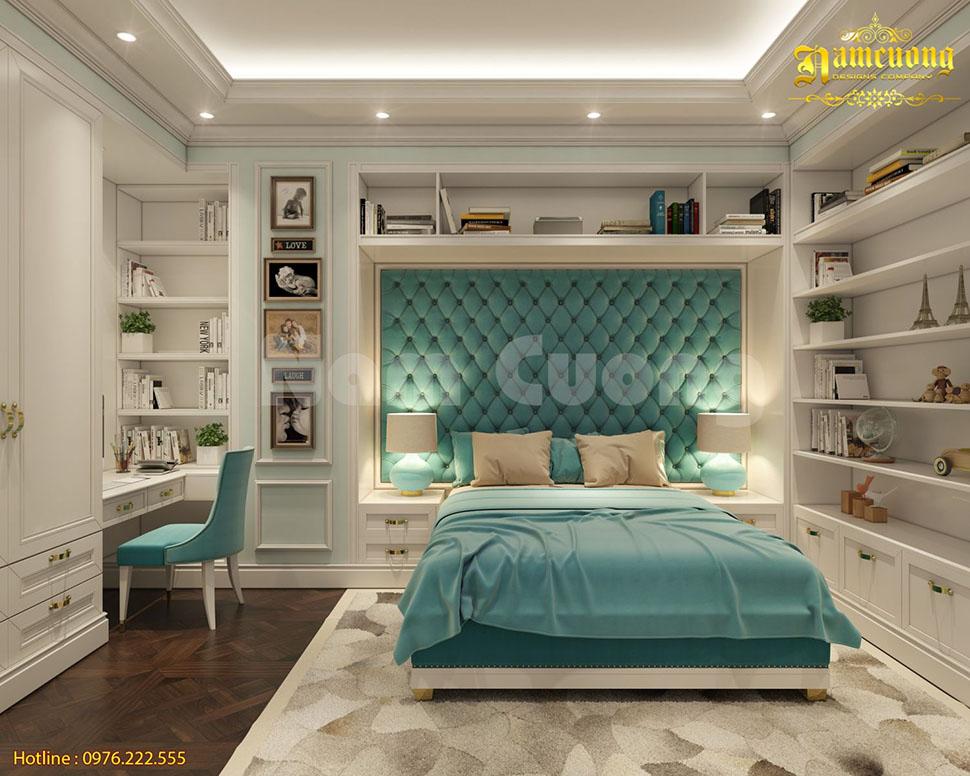Thiết kế nội thất phòng ngủ chung cư tại Sài Gòn