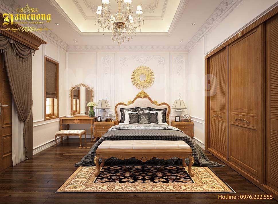 Mẫu thiết kế nội thất phòng ngủ master biệt thự đẳng cấp