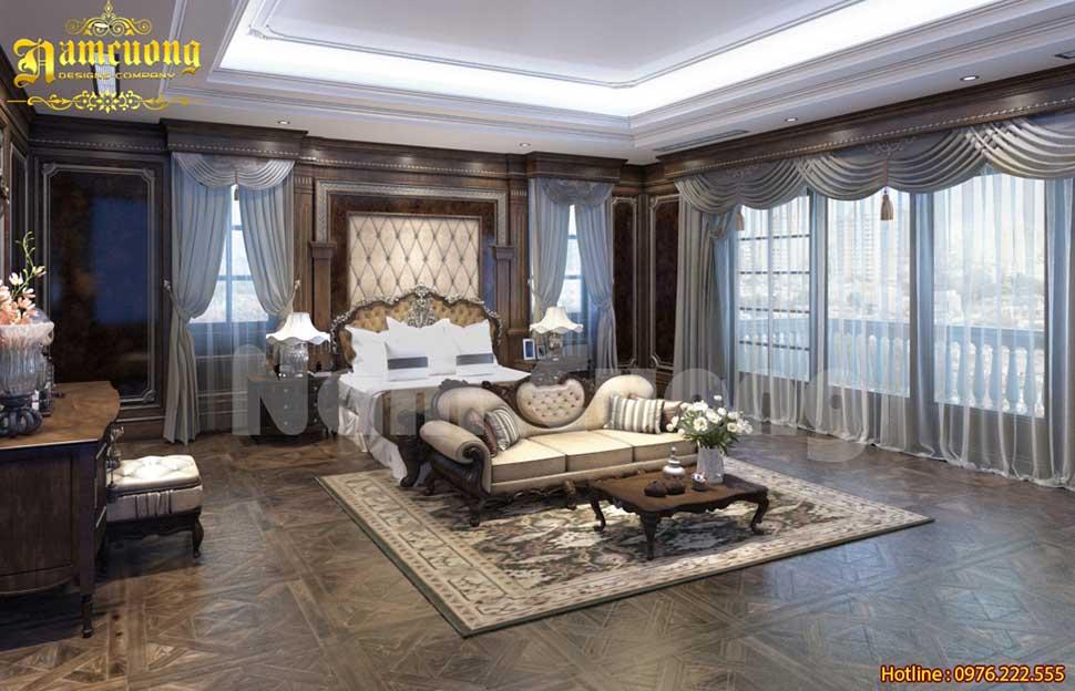 Mẫu nội thất tân cổ điển phòng ngủ master cực đẹp