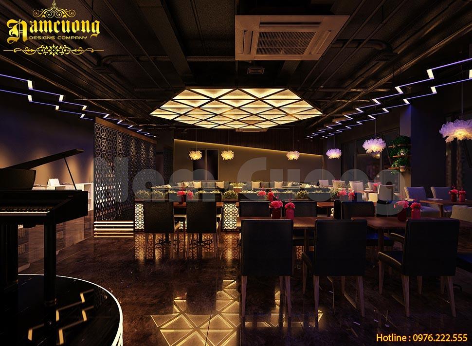 Thiết kế nội thất quán cafe trên tòa nhà cao tầng - NTCF 001