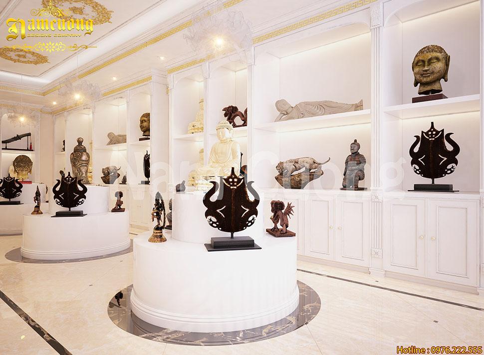 Nội thất nhà hàng chay tân cổ điển tại Sài Gòn - NTNH 001