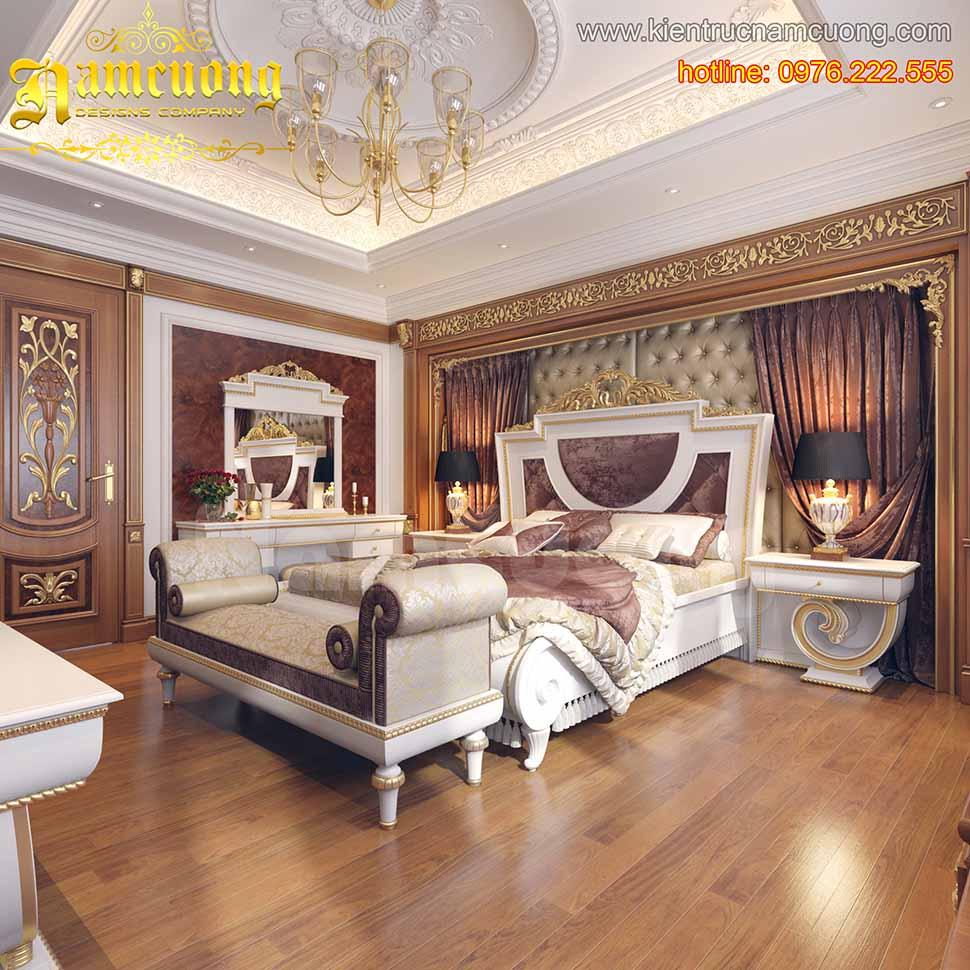 Thiết kế nội thất phòng ngủ tân cổ điển đẹp tại Quảng Ninh - NTNTCD 020