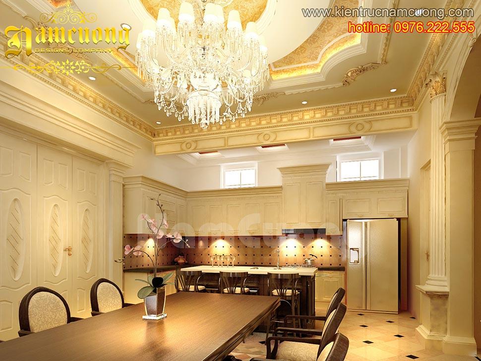 Mẫu thiết kế nội thất phòng ăn tân cổ điển đẹp tại Hải Phòng - NTBTCD 019