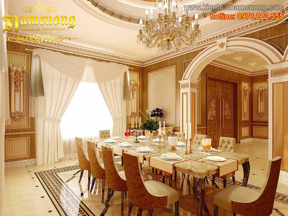 Thiết kế nội thất phòng bếp tân cổ điển ấn tượng tại Sài Gòn - NTBTCD 008
