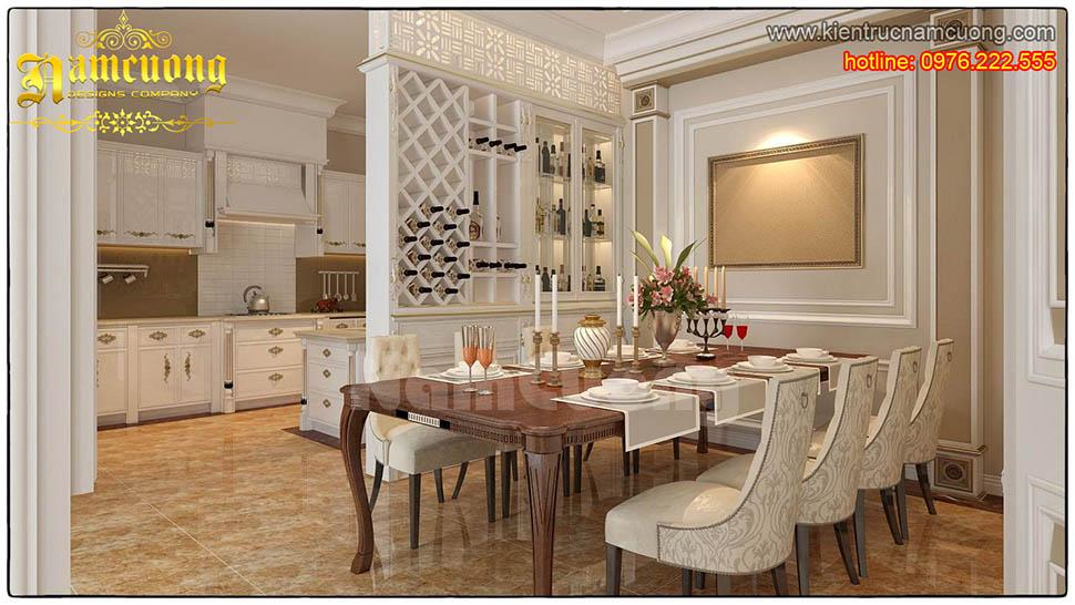 Thiết kế nội thất phòng bếp tân cổ điển đẹp tại Sài Gòn - NTBTCD 013