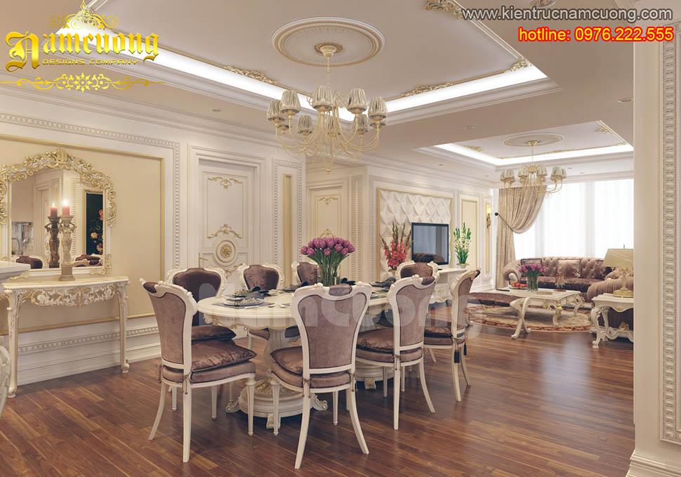 Mẫu thiết kế phòng ăn tân cổ điển tại Quảng Ninh - NTBTCD 010