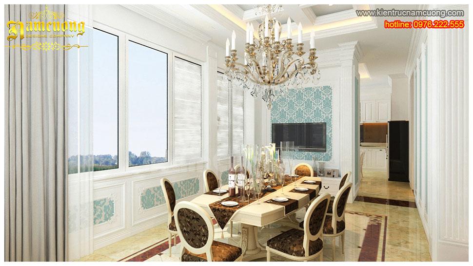 Nội thất phòng bếp tân cổ điển cho biệt thự Pháp tại Sài Gòn - NTBTCD 011