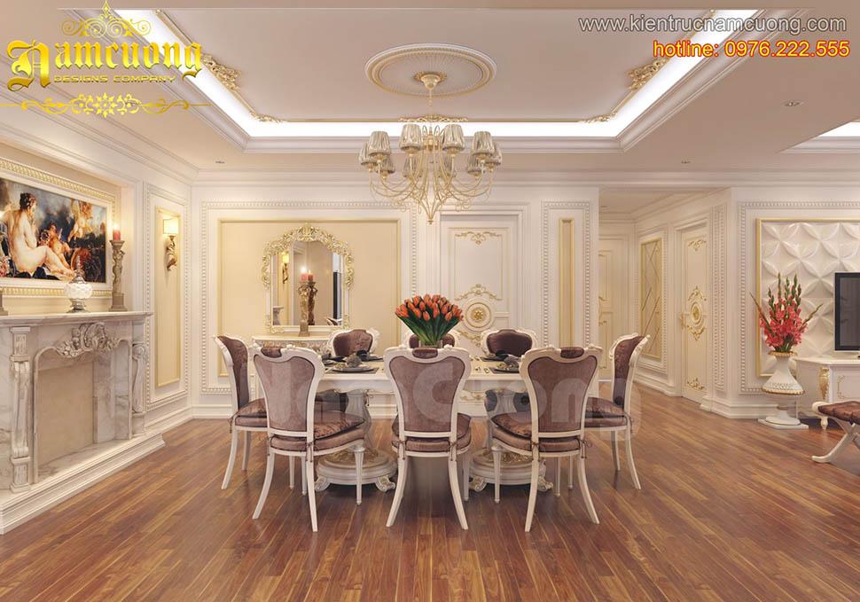 Thiết kế nội thất phòng bếp tân cổ điển đẹp tại Sài Gòn - NTBTCD 015
