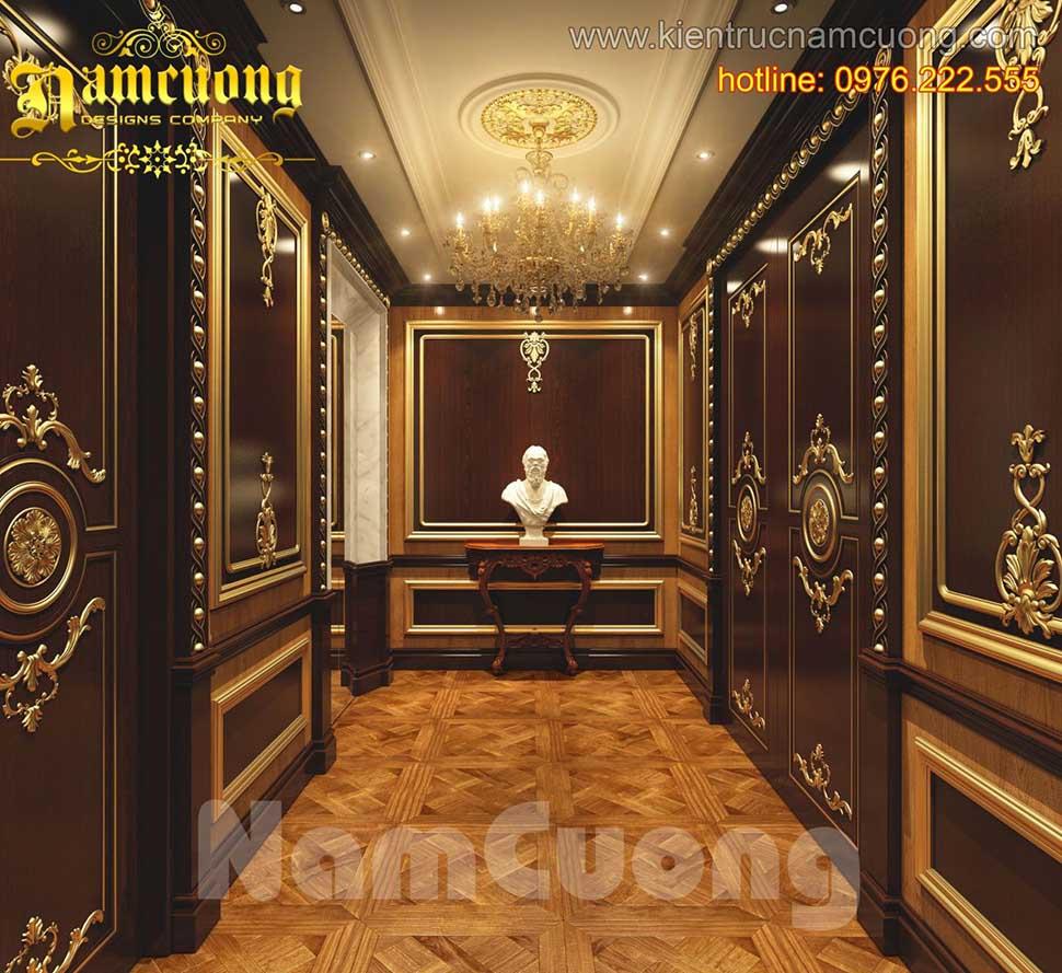 Thiết kế nội thất đẹp, ấn tượng cho biệt thự tân cổ điển tại Quảng Ninh - NTBTCD 027