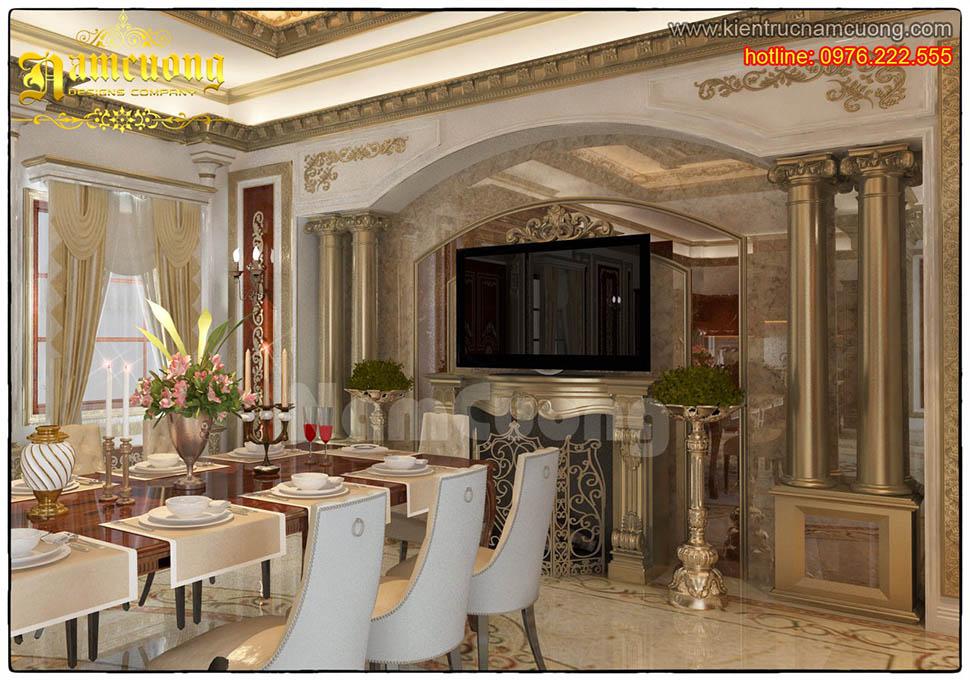 Thiết kế nội thất phòng bếp tân cổ điển ấn tượng tại Sài Gòn - NTBTCD 030