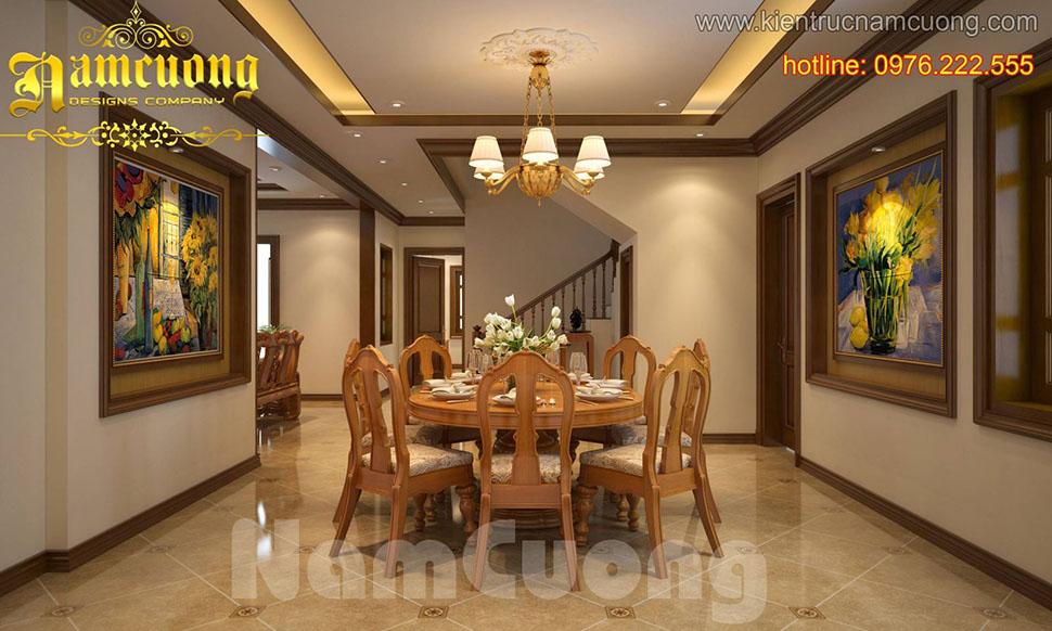 Mẫu thiết kế phòng bếp tân cổ điển ấn tượng tại Sài Gòn - NTBTCD 040