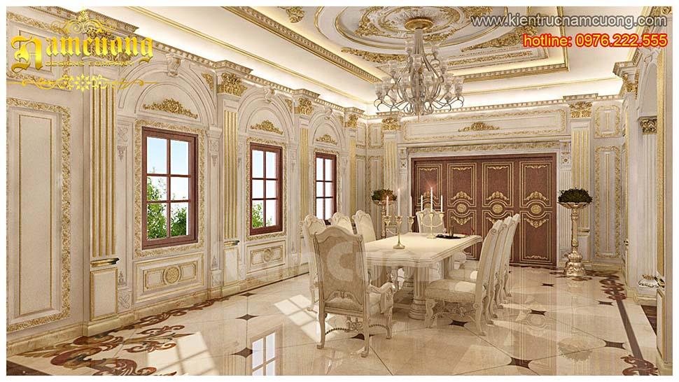 Thiết kế nội thất phòng bếp tân cổ điển ấn tượng tại Quảng Ninh - NTNTCD 044
