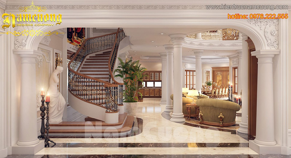 Thiết kế nội thất ấn tượng, sang trọng cho biệt thự Pháp tại Quảng Ninh - NTBTP 011