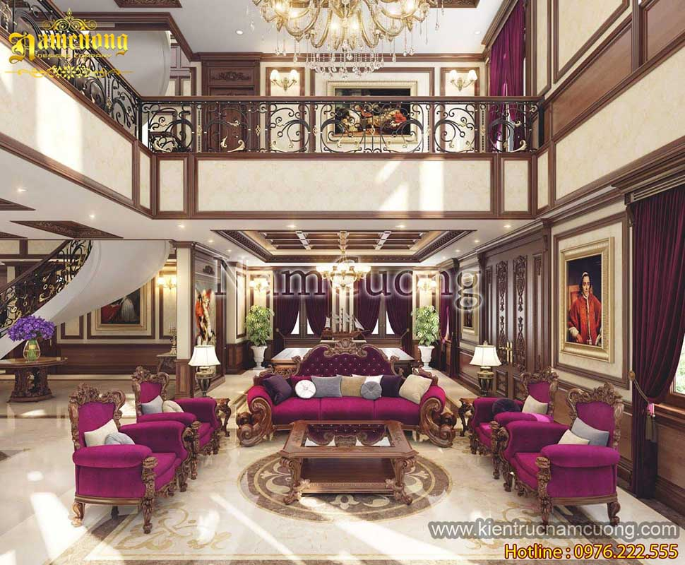 Mẫu thiết kế nội thất đẹp cho biệt thự kiểu Pháp tại Sài Gòn - NTBTP 011