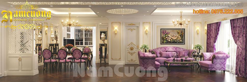 Thiết kế nội thất ấn tượng cho  biệt thự kiểu Pháp tại Sài Gòn - NTBTP 012