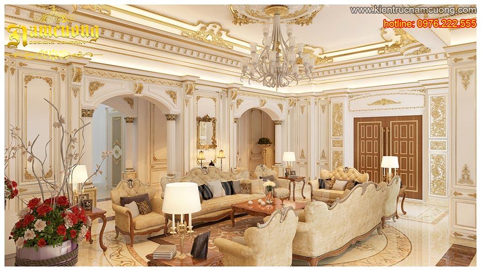 Thiết kế nội thất phòng khách tân cổ điển đẹp tại Sài Gòn - NTKTCD 017