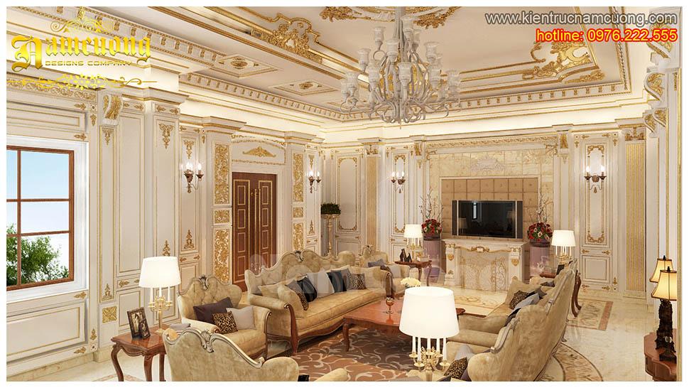 Thiết kế nội thất phòng khách tân cổ điển tại Sài Gòn - NTKTCD 026