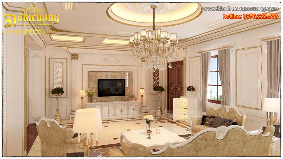 Thiết kế nội thất phòng khách tân cổ điển tại Hải Phòng - NTKTCD 009