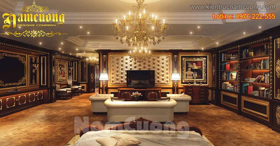 Mẫu nội thất phòng khách tân cổ điển đẹp tại Sài Gòn - NTKTCD 040