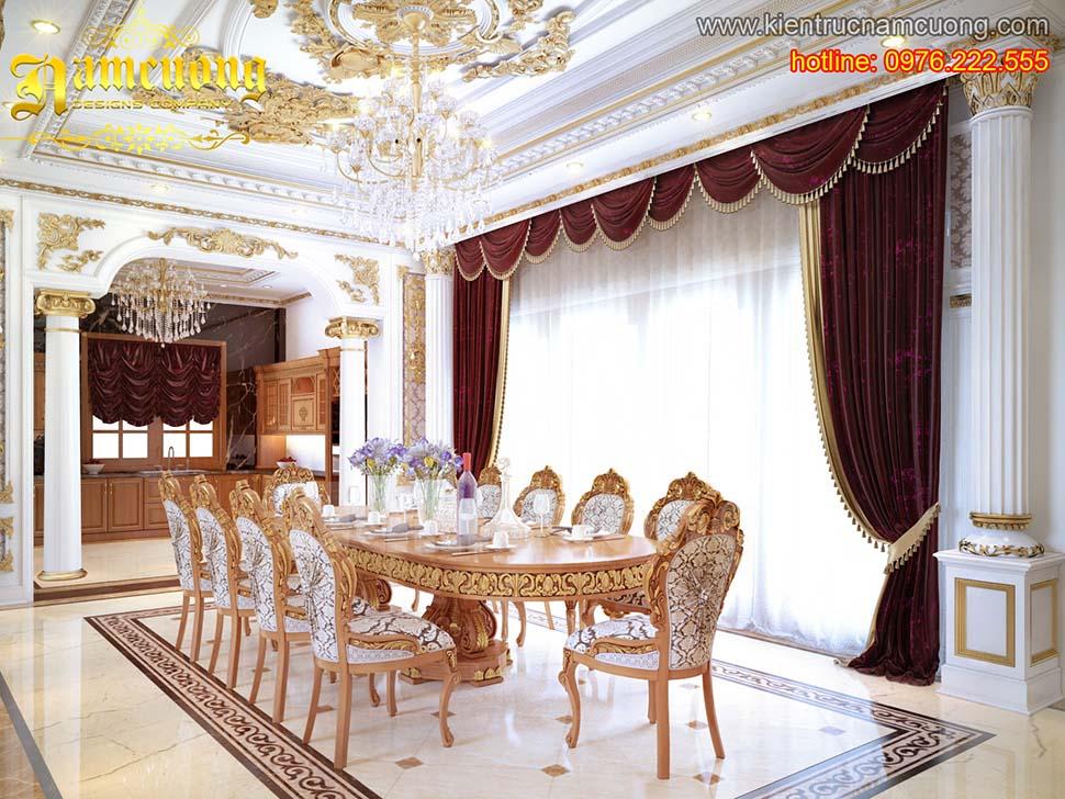 Thiết kế nội thất phòng bếp cổ điển tại Hải Phòng - NTBCD 009