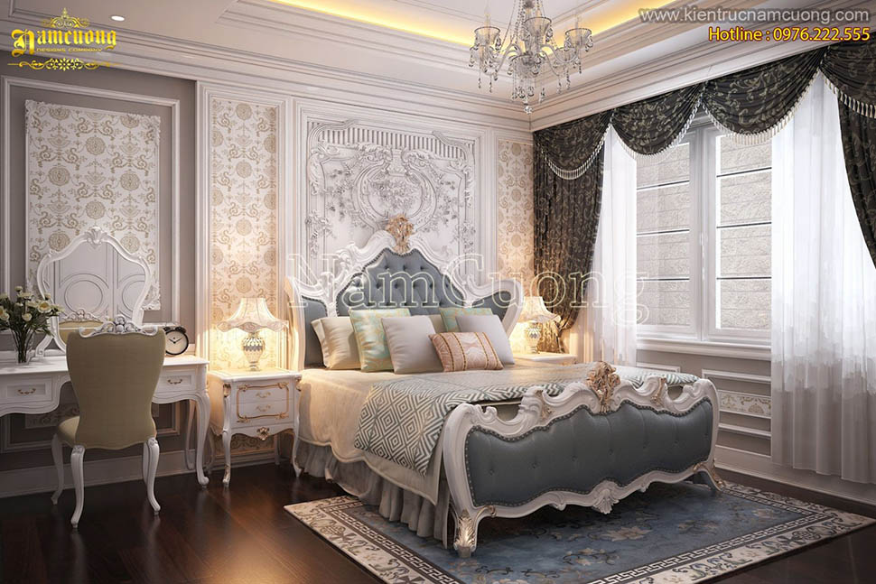 Một số mẫu phòng ngủ đẹp biệt thự tân cổ điển tại Hải Phòng - NTPNCD 052