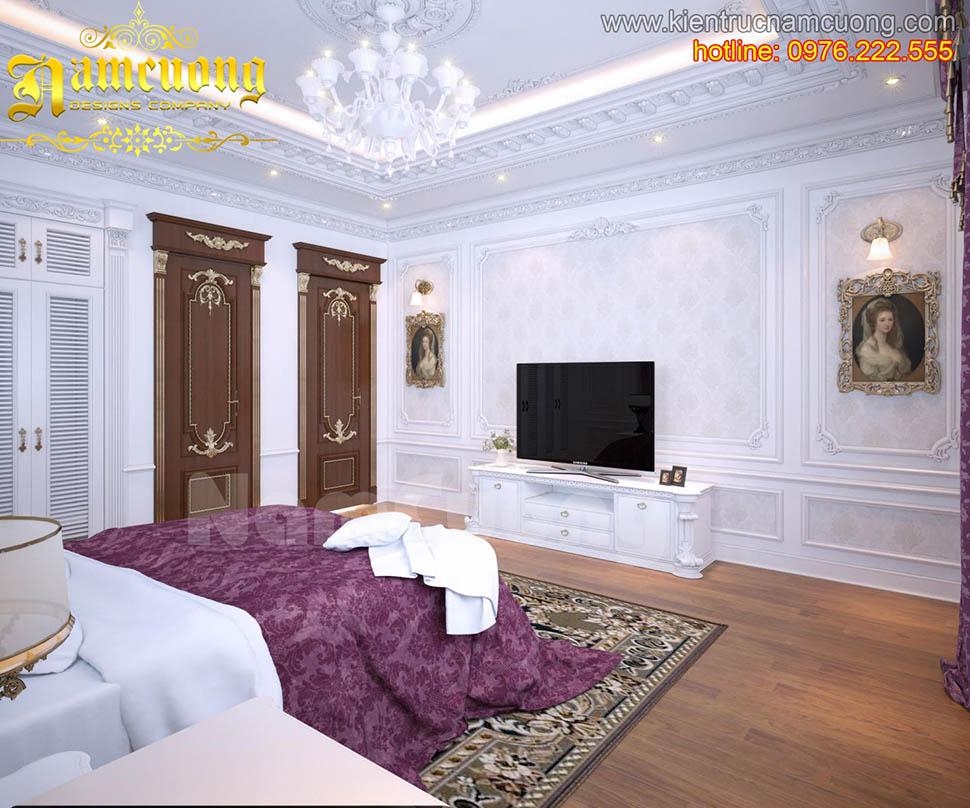Mẫu thiết kế nội thất phòng ngủ tân cổ điển ấn tượng tại Hải Phòng - NTNTCD 021