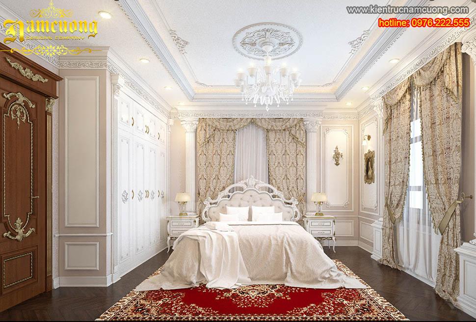 Trắng tinh khôi cho thiết kế phòng ngủ tân cổ điển tại Hà Nội - PNCDT 002