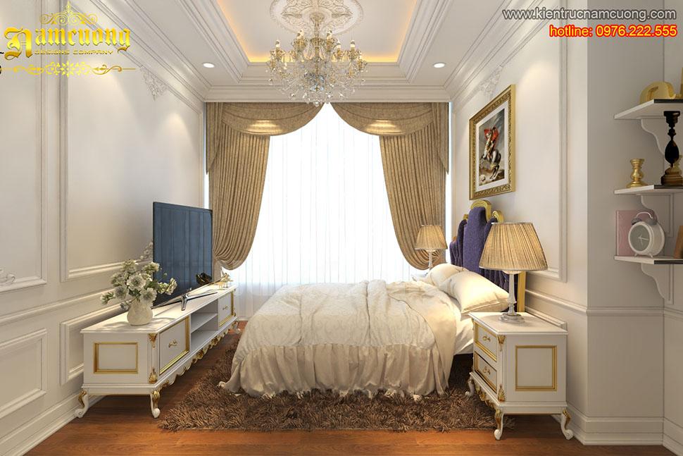 Thiết kế nội thất phòng ngủ tân cổ điển tại Quảng Ninh - NTNTCD 026