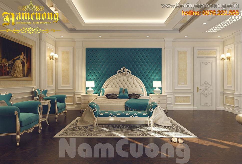 Thiết kế nội thất phòng ngủ tân cổ điển đẹp tại Quảng Ninh - NTNTCD 013