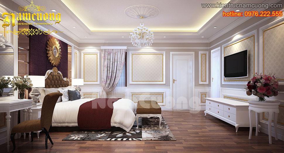 Thiết kế nội thất phòng ngủ tân cổ điển ấn tượng tại Sài Gòn - NTNTCD 014