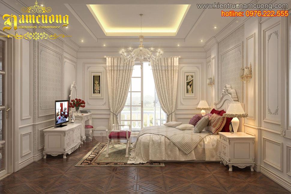 Thiết kế nội thất phòng phòng ngủ tân cổ điển ấn tượng tại Sài Gòn - NTNTCD 022