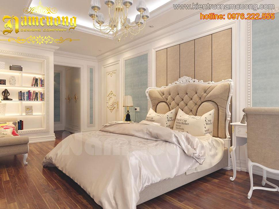 Thiết kế nội thất phòng ngủ tân cổ điển ấn tượng tại Sài Gòn - NTNTCD 018