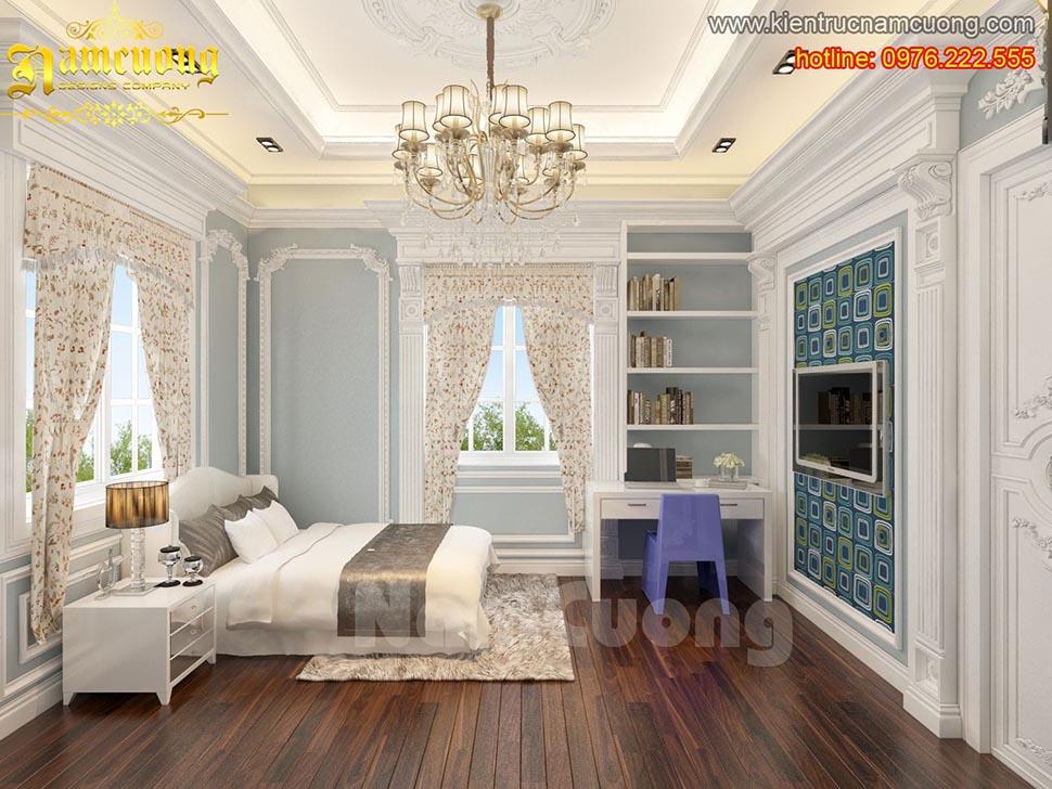 Thiết kế phòng ngủ tân cổ điển ấn tượng tại Sài Gòn - NTNTCD 034