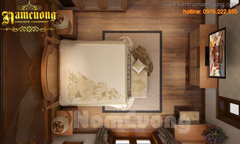 Thiết kế nội thất phòng ngủ tân cổ điển ấn tượng tại Sài Gòn - NTNTCD 043