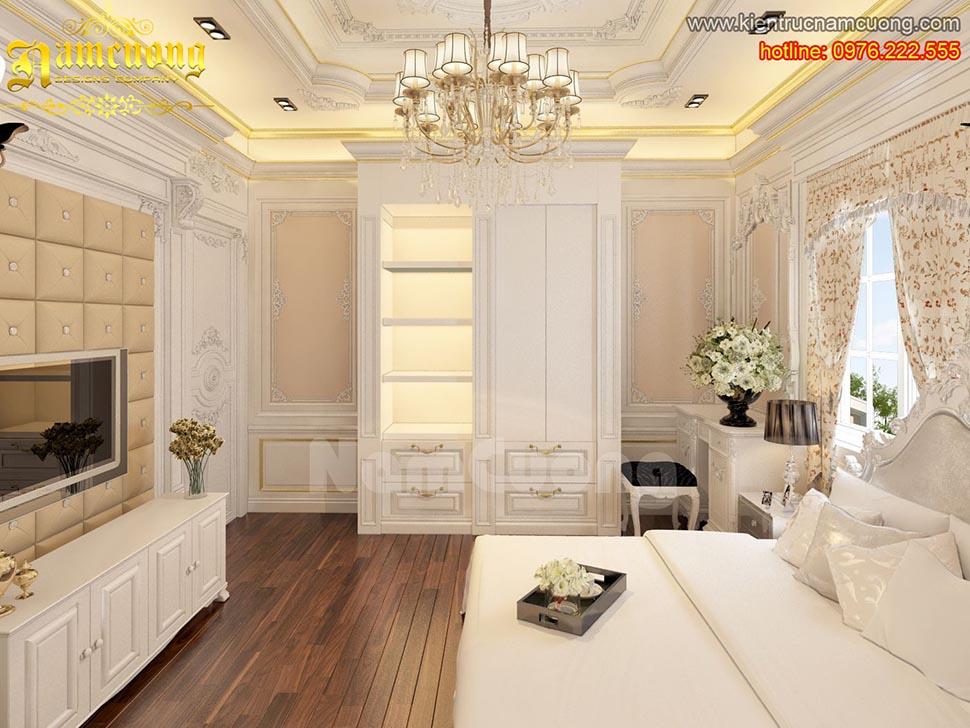 Thiết kế nội thất nội thất phòng ngủ tân cổ điển ấn tượng tại Sài Gòn - NTNTCD 039