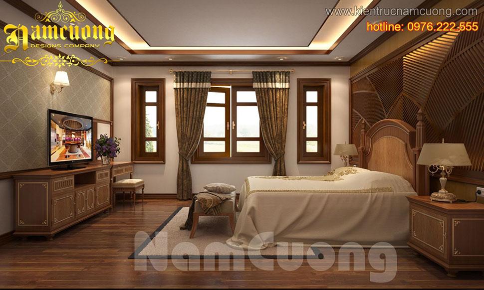 Thiết kế nội thất phòng ngủ tân cổ điển ấn tượng tại Hải Phòng - NTNTCD 041